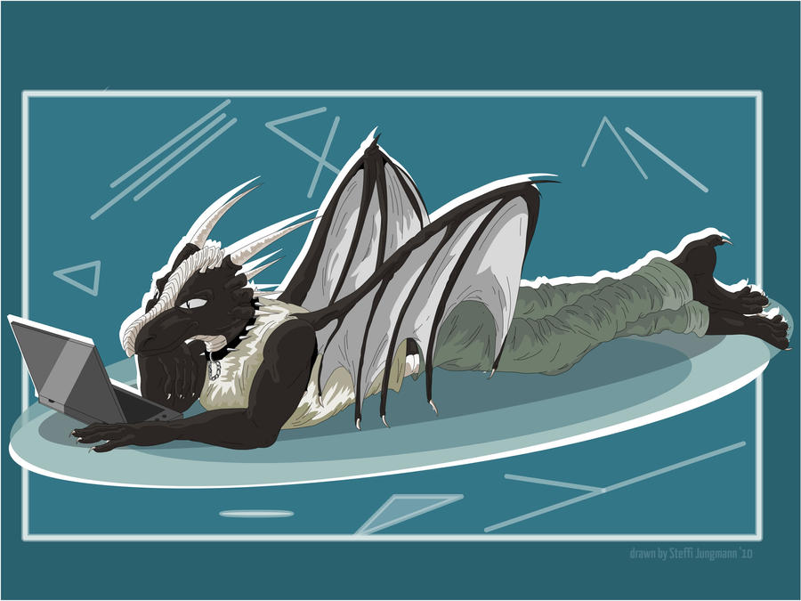 Dragon on Lappie by StarlightsMarti