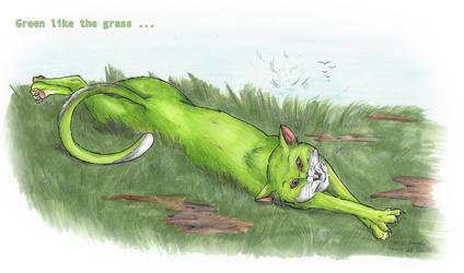 Fur Green Like Grass by Faelis-Skribblekitty