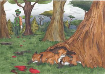 Hunting is Fun by Faelis-Skribblekitty