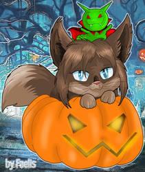 Pumpkinface by Faelis-Skribblekitty