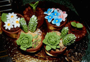 Plant cupcakes by Diotima96