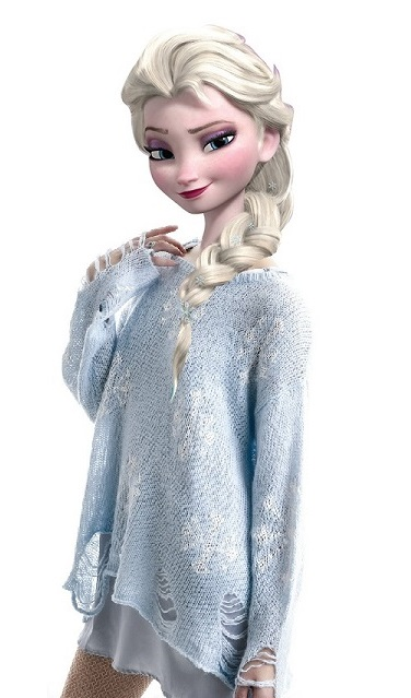 Modern queen elsa blue snowflake sweater by drpepperswife on