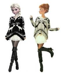 Modern Disney - Elsa and Anna Sweaters