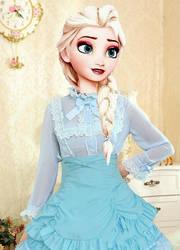 Modern Queen Elsa Lolita Fashion Dress