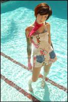 Anime Girl In Pool by JonnyBalls