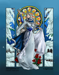 Lady Snowflake: Colored