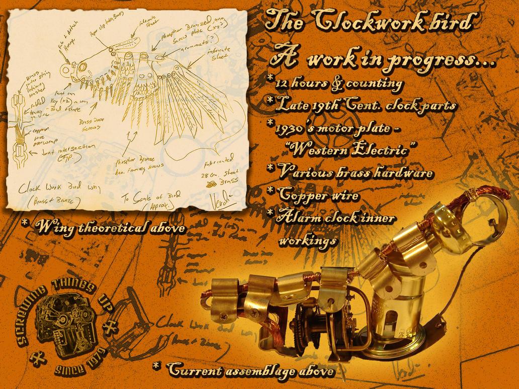 Clockwork Bird WIP by verdigrisjester