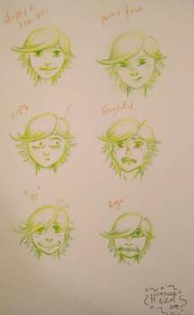 Faces of Adrien