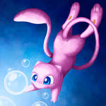 Mew and bubbles