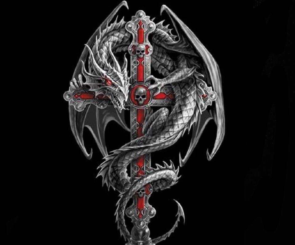 Тату дракона и креста значение