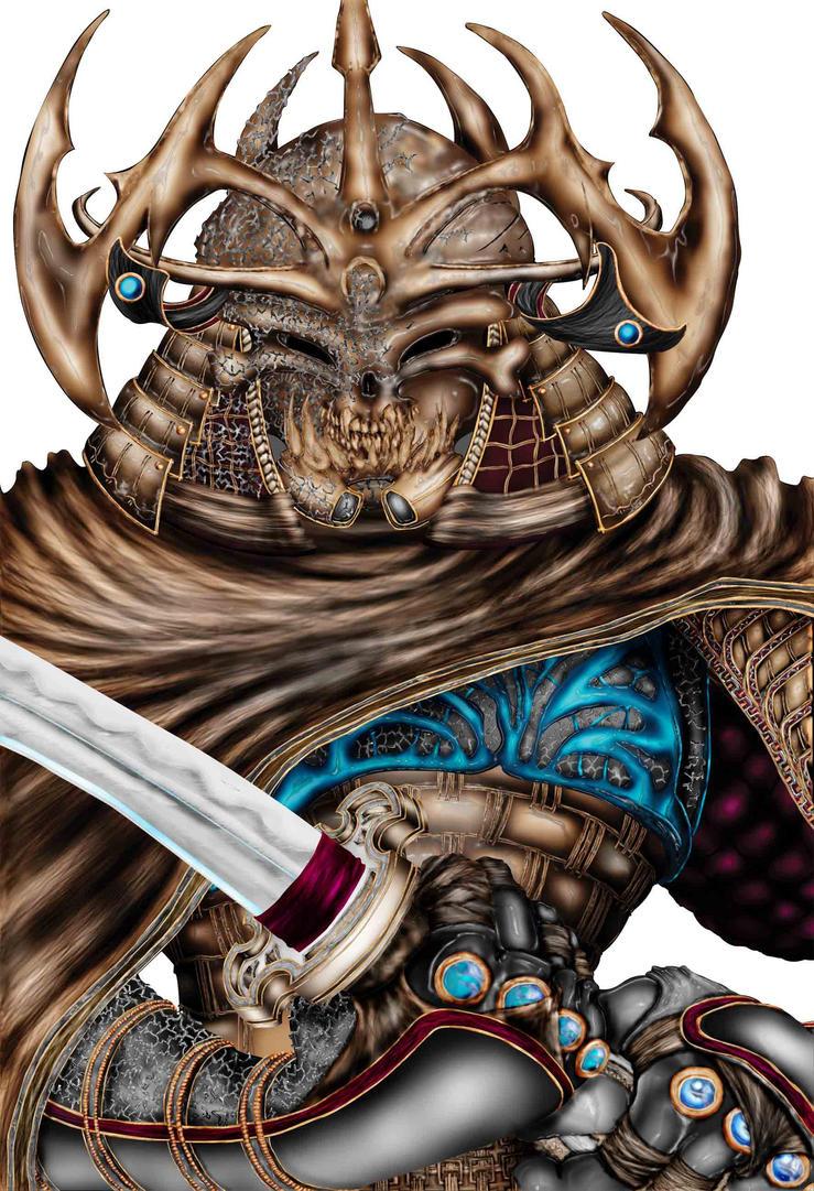 samurai in armor: colored by leelearn