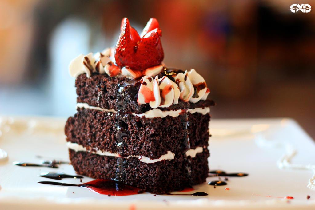 Strawberry Chocolate Moist Cake by CeppyxDPhotography
