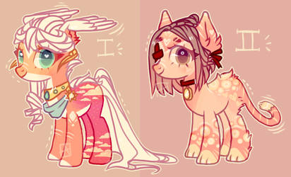 CAT PONY ADOPT and ANGELIC PONY ADOPT?? :OPEN: by SrFlamencoDonations