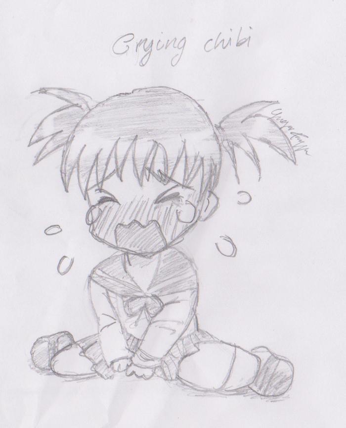 crying chibi girl by AryaStark99 on DeviantArt
