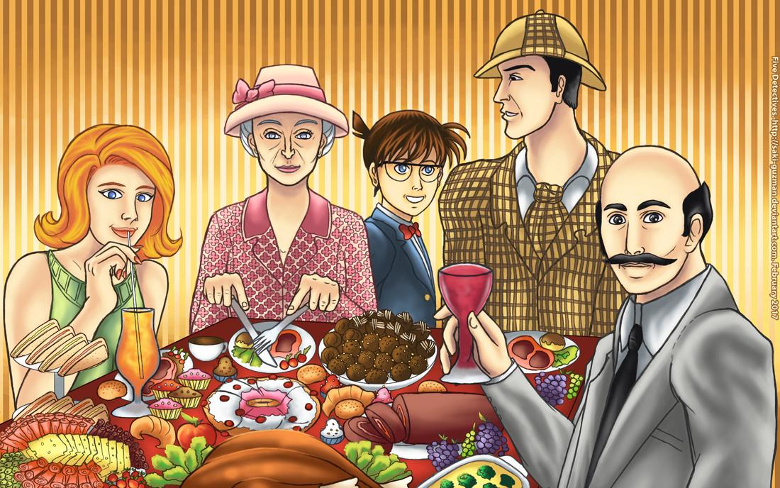 Five Detectives by saki-guzman