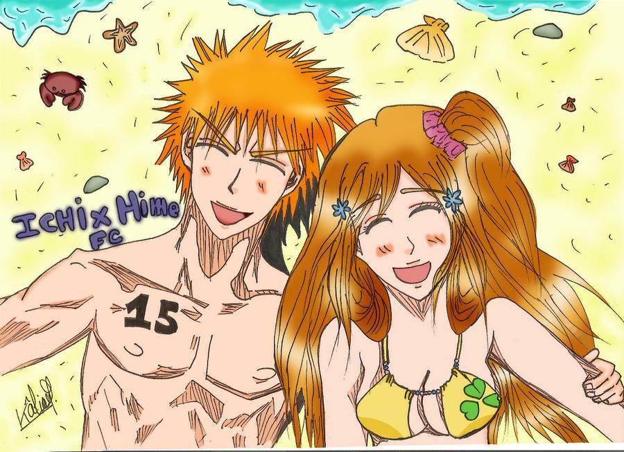 IchiHime: Summer by Skaki-chan
