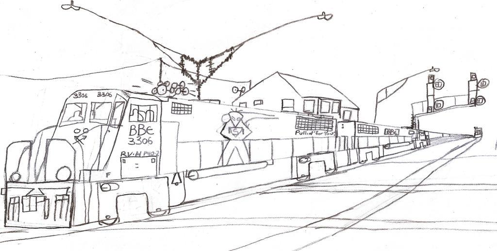 Big Ben Express P40-2 #3306 by Tracksidegorilla1