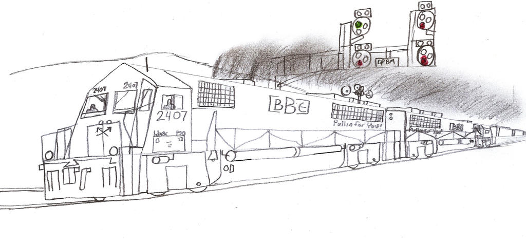 Big Ben Express P50 #2407 by Tracksidegorilla1