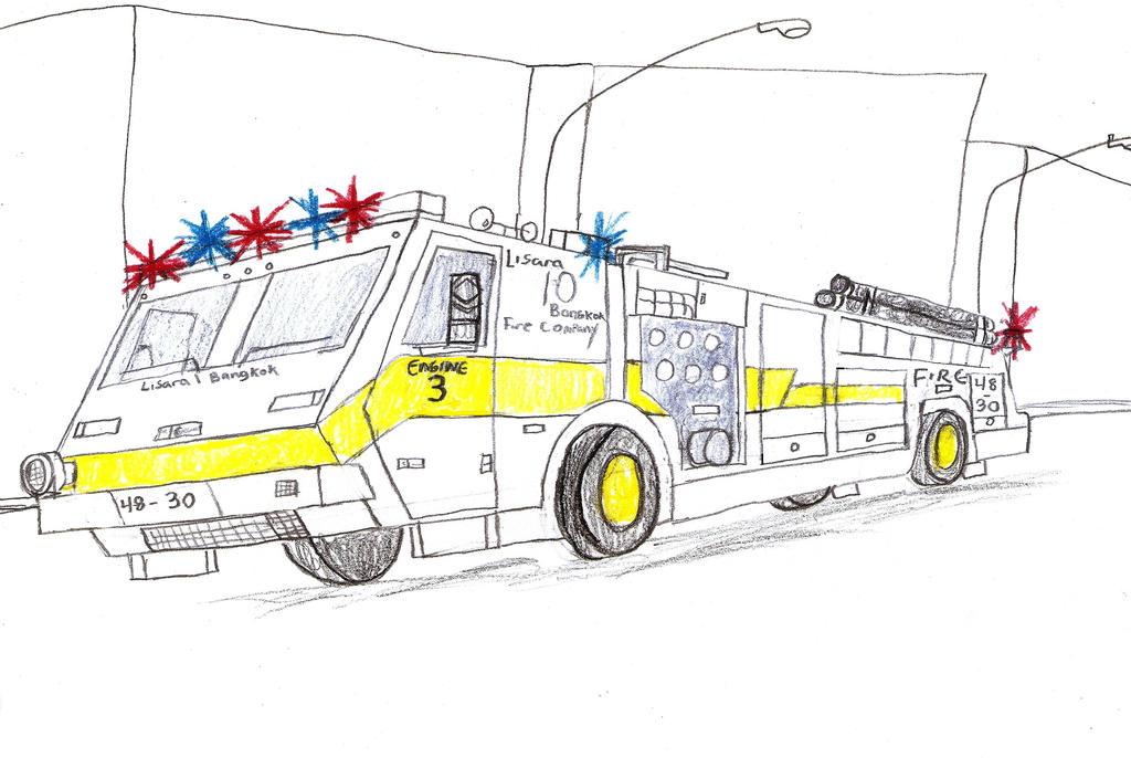 Lisara-Bangkok Fire Co Minotaur Engine 3 by Tracksidegorilla1