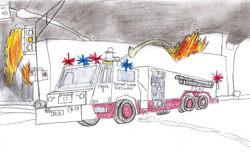 Square Lake Fire Co Minotaur Tanker 3 by Tracksidegorilla1