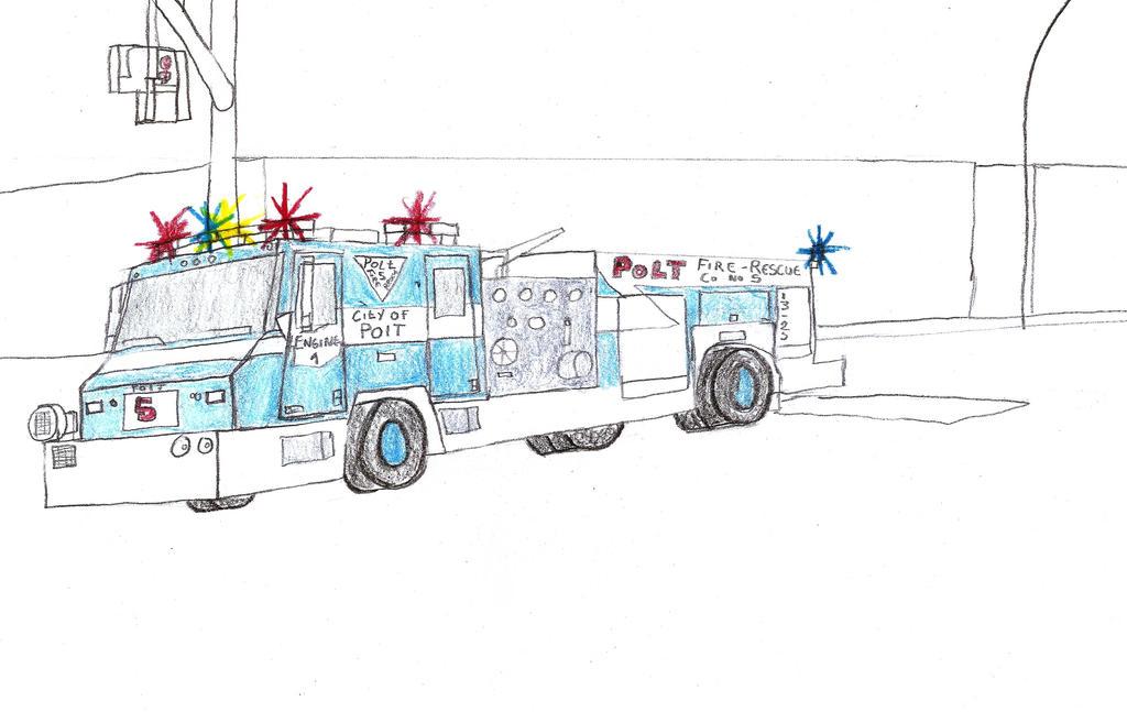 City of Polt Fire Dept Minotaur Engine 1 by Tracksidegorilla1