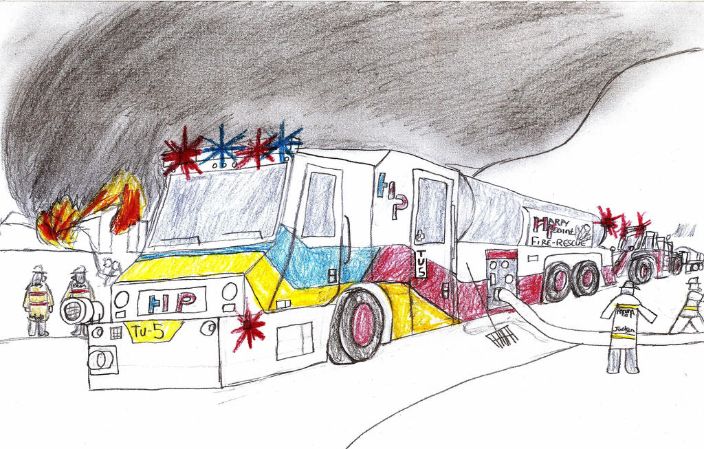 Harpy Point Fire and Rescue Minotaur Tanker 5 by Tracksidegorilla1