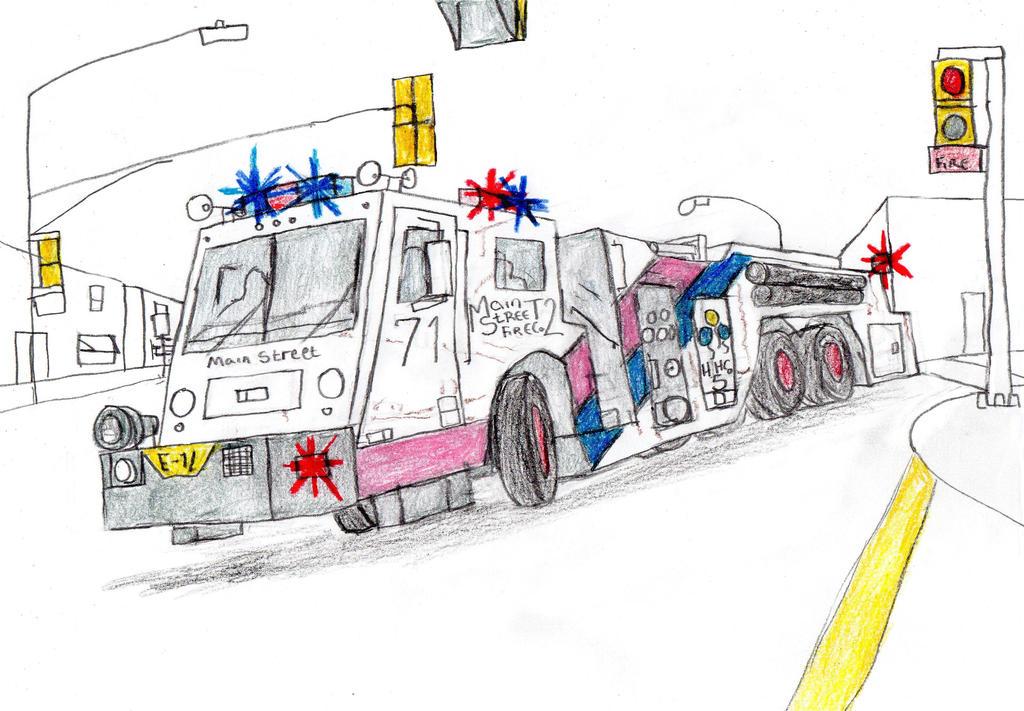 Main Street Fire Co Minotaur Engine 71 by Tracksidegorilla1