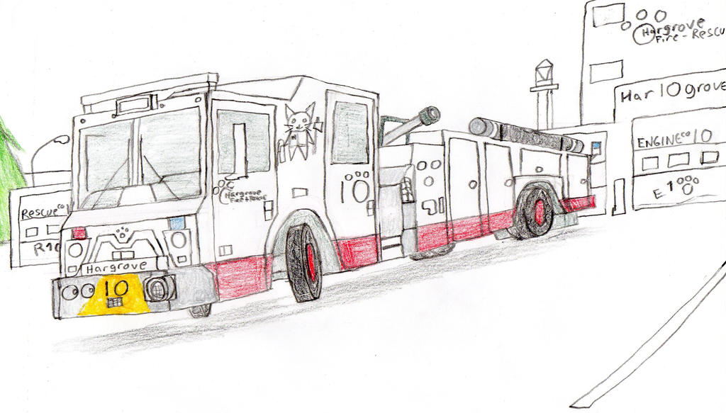 Hargrove Fire and Rescue Mack MC Engine 10 by Tracksidegorilla1