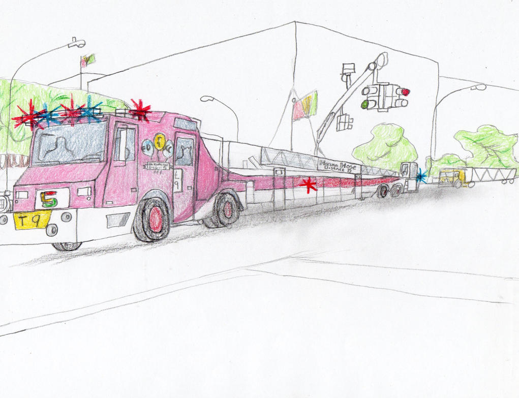 Tribor Fire Company No. 5 Minotaur Truck 9 by Tracksidegorilla1