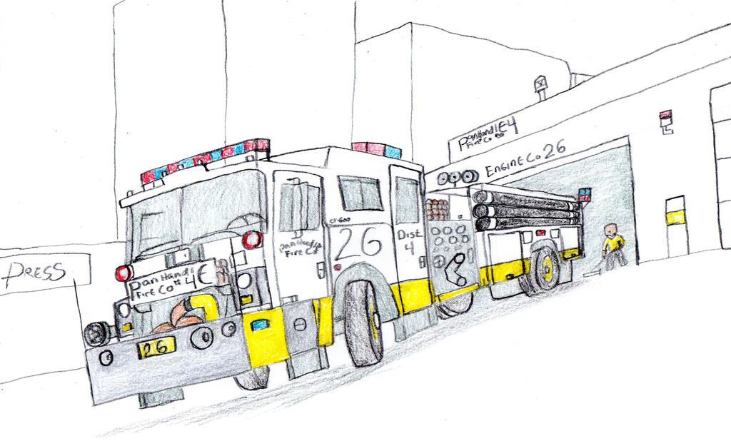 Panhandle Fire Co. Mack CF Engine 26 by Tracksidegorilla1