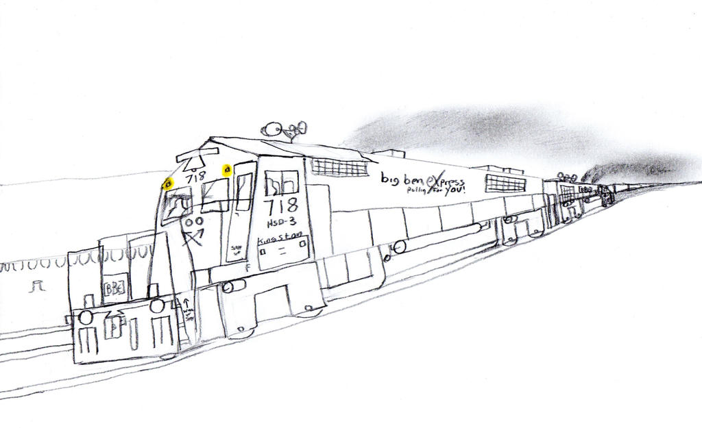 Big Ben Express HSD-3 #718 by Tracksidegorilla1