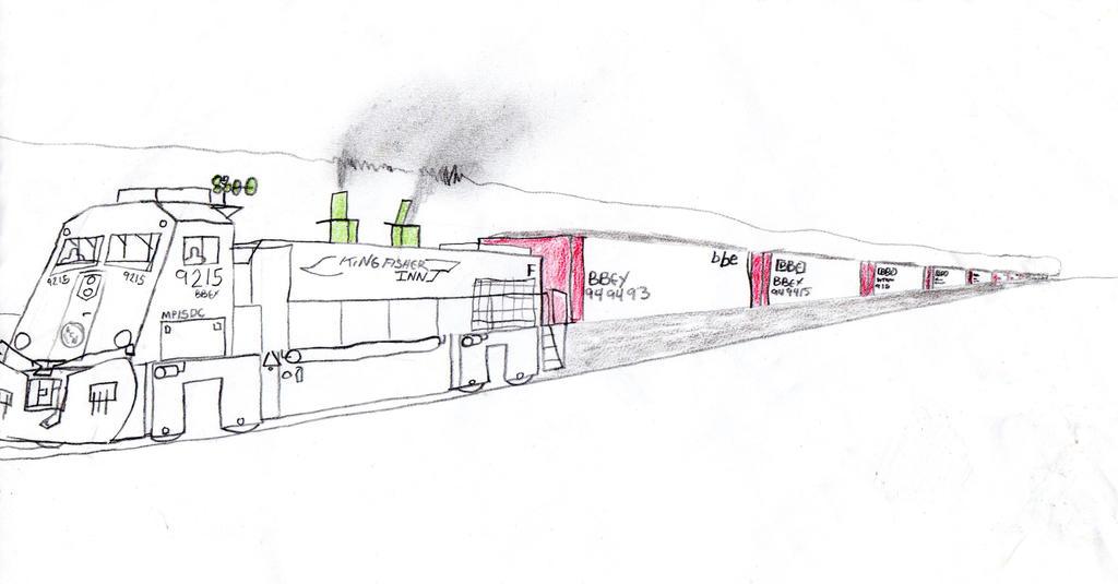 Kingfisher Inn Railway MP15DC #9215 by Tracksidegorilla1