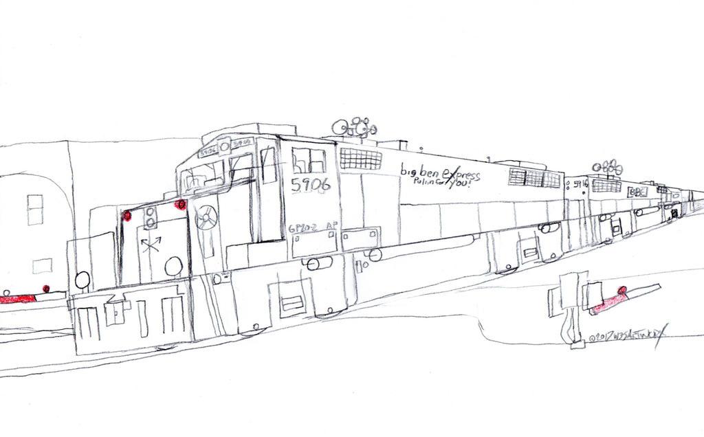 Big Ben Express GP20-2 #5906 by Tracksidegorilla1