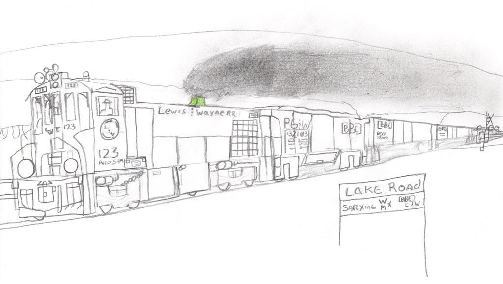 Lewis and Wayne Railroad S4M #123 by Tracksidegorilla1