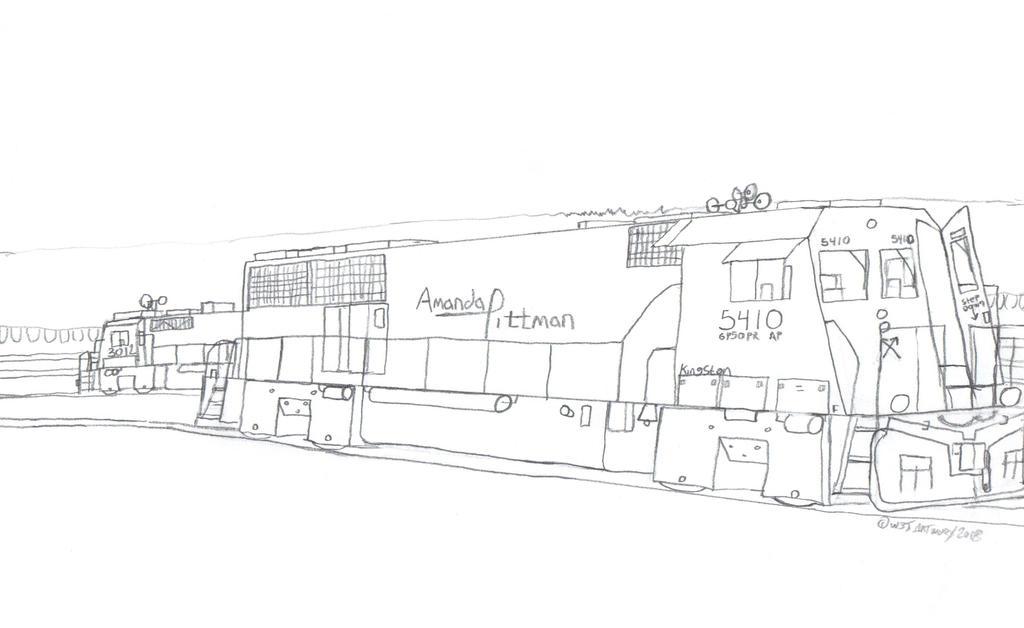 Big Ben Express GP50PR #5410 by Tracksidegorilla1