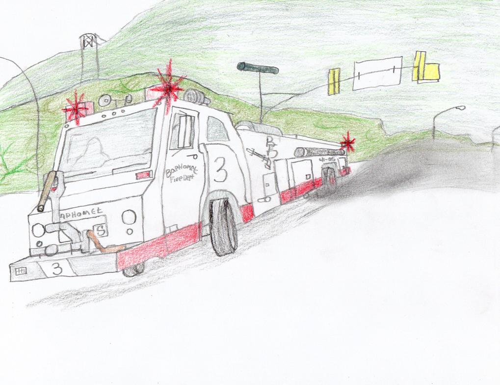 Baphomet Fire Dept Minotaur-Sutphen Engine 3 by Tracksidegorilla1