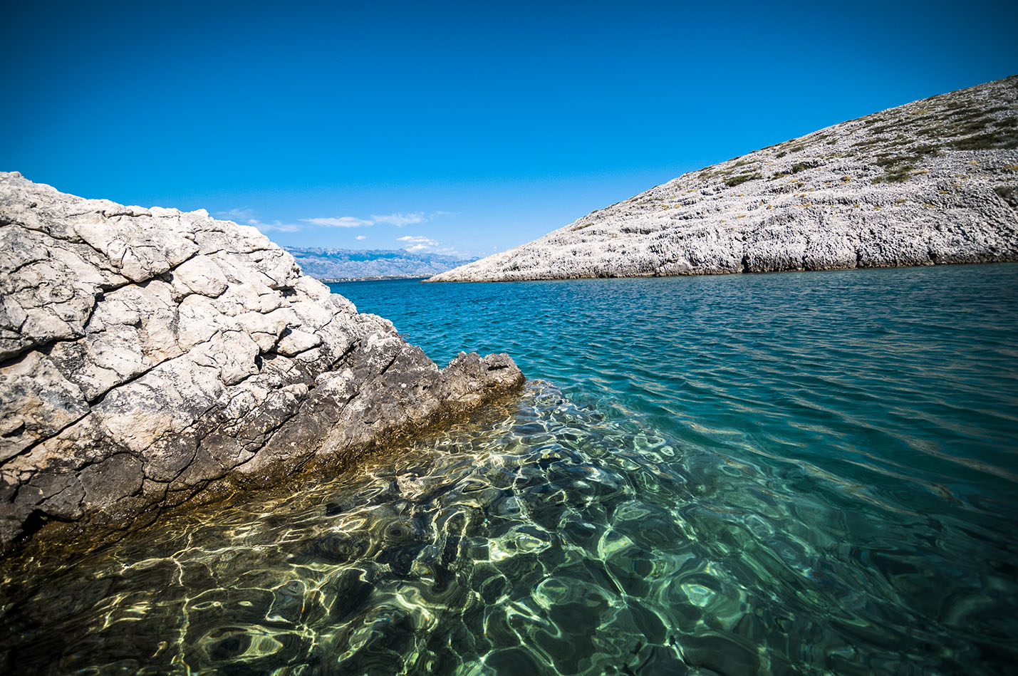 Adriatic Sea from a peninsula in VRSI, Croatia by WETkitchen