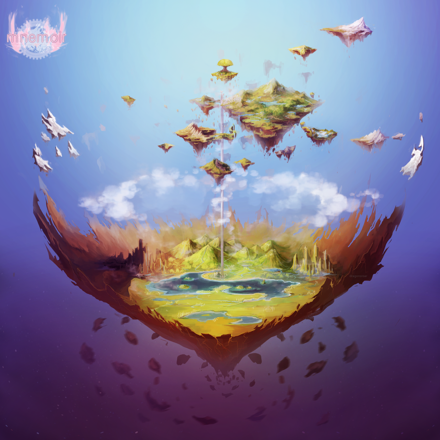 Mnemoir World Map by Dragons-Roar