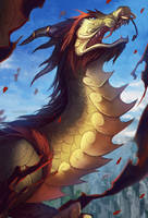 World of Warcraft: Cloud Serpent by GRAVEWEAVER