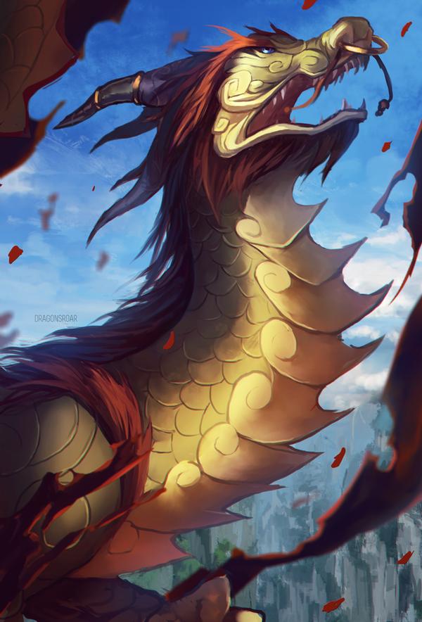 World of Warcraft: Cloud Serpent by Dragons-Roar