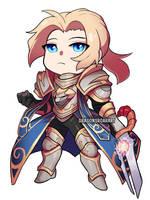 World of Warcraft: Chibi Anduin by GRAVEWEAVER