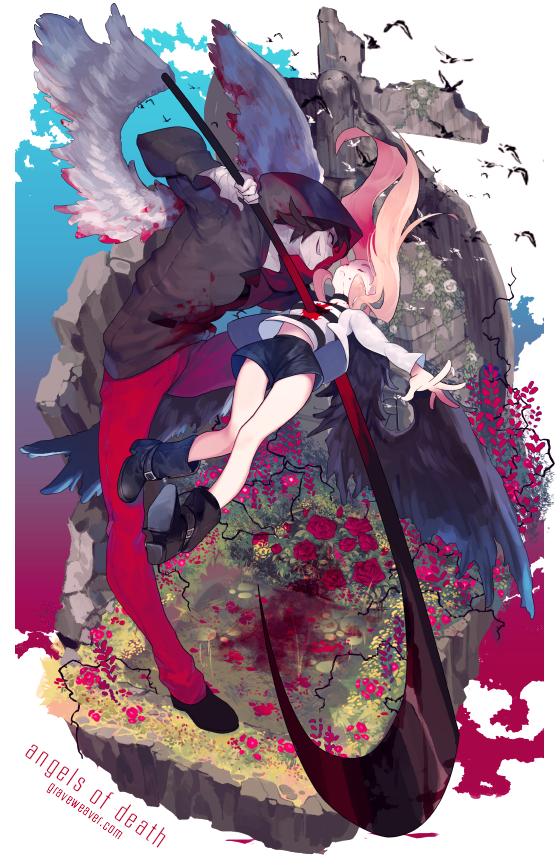 Angels of Death / Satsuriku no Tenshi by GRAVEWEAVER