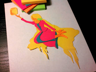 Tangled Sticky Notes by bloominglove