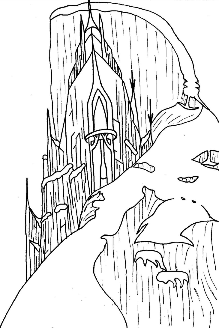 elsa and castle coloring pages - photo#13