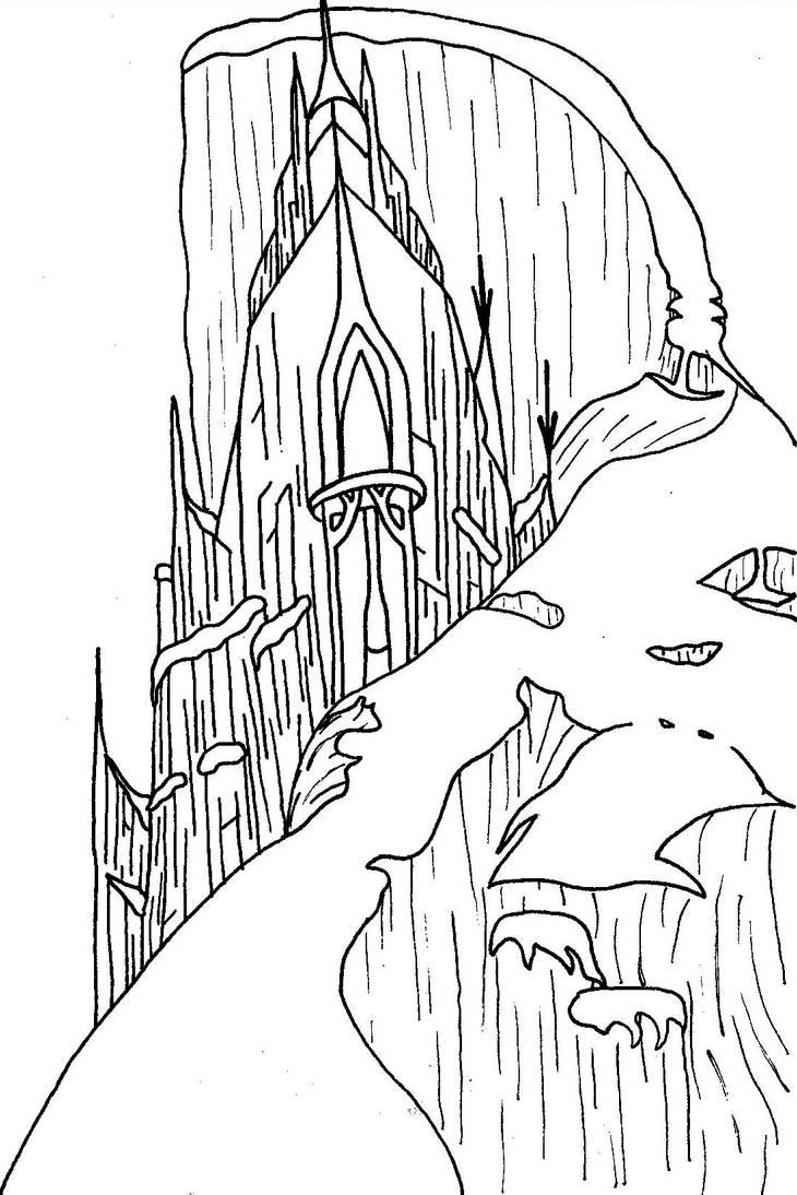 Шаблоны замка снежной королевы, адресом