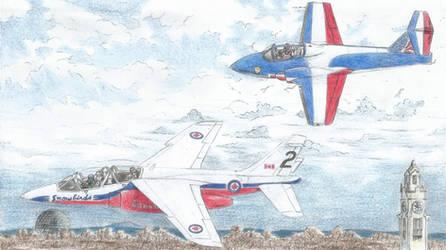 Patrouille de France/Snowbirds Montreal Flyby