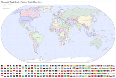 Thousand Week Reich - Political World Map 2018