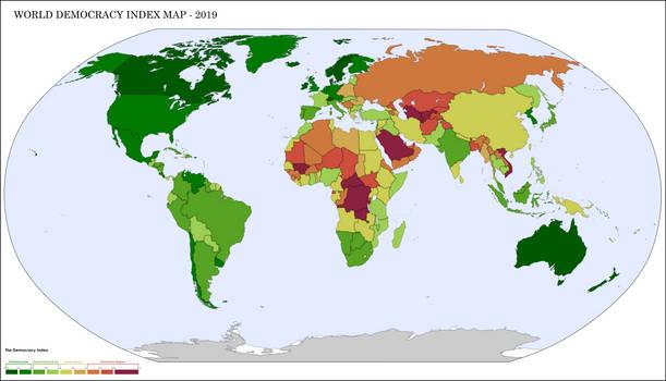 Thousand Week Reich - Modern Democracy Index Map