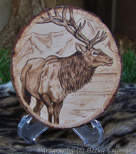 Rocky Mountain Elk Woodburn by justplainfox