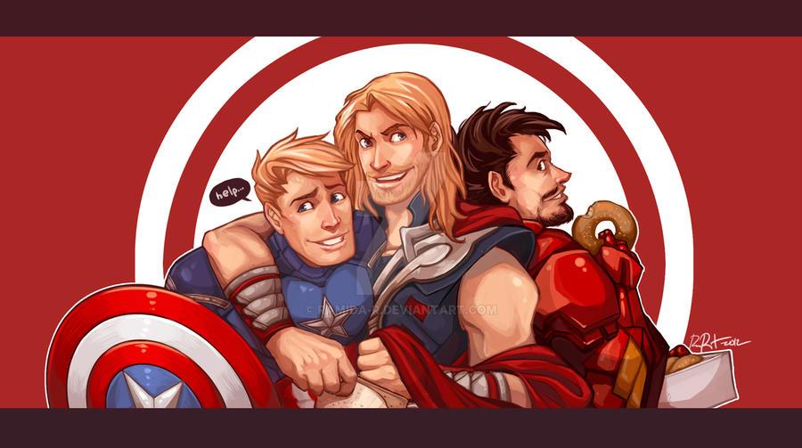 Avengers Trio by ramida-r